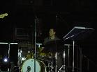 with drums in concert outdoor